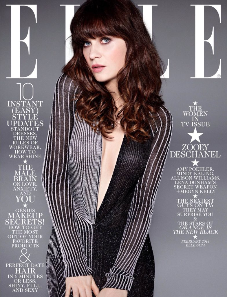 Zooey Deschanel couverture ELLE