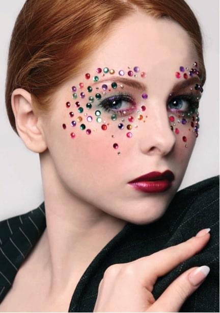 bijoux diamants visage