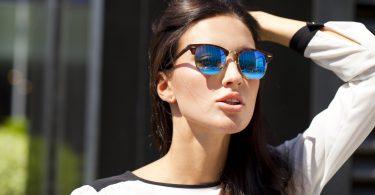 lunette de soleil verre bleu