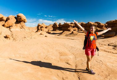 Girl in Goblin Valley State Park, Utah