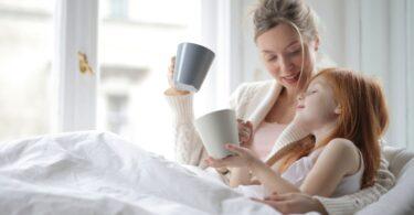 lit couette maman et fille