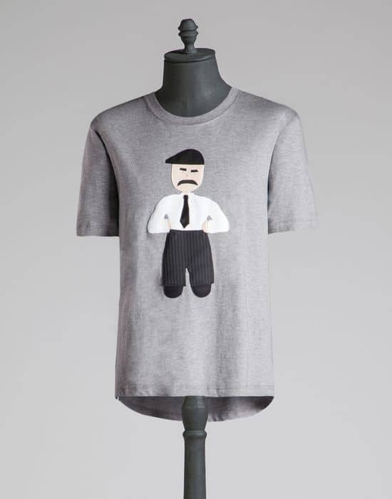 tshirt gris Little Sicilian Man